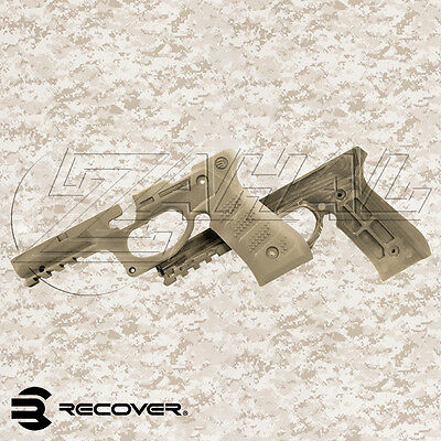 NEW Desrt Sand Recover Tactical Beretta 92 Polymer Grip and Rail Cover - BC2 TAN
