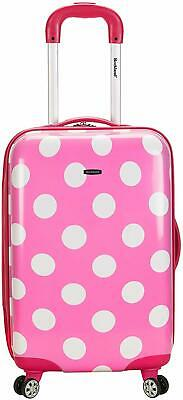 Rockland Luggage 20 Inch Carry On Pink Dots