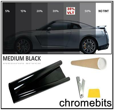 TINTING WINDOW TINT FILM KIT MEDIUM BLACK 35% 3M x 50CM