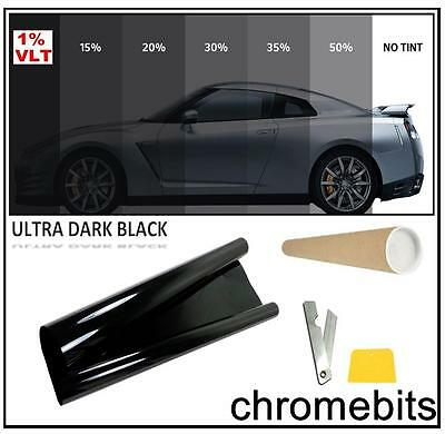 VAN CAR OFFICE TINTING WINDOW TINT FILM ULTRA LIMO BLACK 1% 3M x 50CM