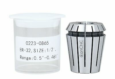 """5 Pcs 1/2"""" ER32 Collet Set 0.0004'' in Fitted Box, #0223-0865x5"""
