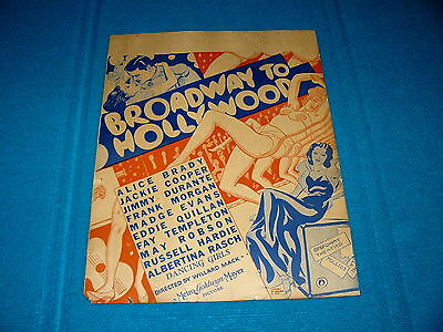 1933 MGM Window Card : BROADWAY to HOLLYWOOD @ Jackie Cooper/Jimmy Durante