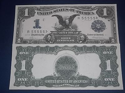 Crisp Unc. 1899 $1 Black Eagel Silver Certificate Copy