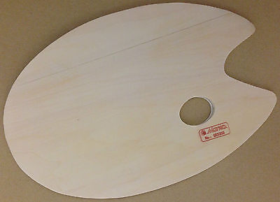 Marie's Artists Colour Mixing Palette Wooden Plywood Fish,Oval & Rectangle Shape