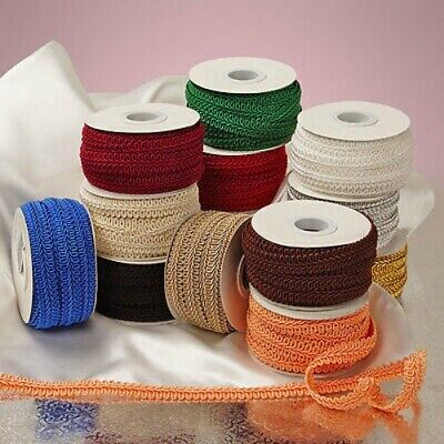 Gimp Braid Trim 3/8 and 1/2 inch wide select color & width-selling by the yard