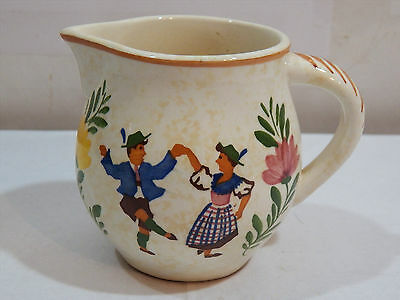 Vintage Alpine Peasant Ware Hand Painted Made in Germany Creamer Pitcher