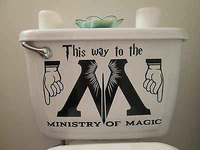 Harry Potter ins, Ministry of Magic toilet decal sticker, different sizes/colors