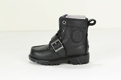 POLO RALPH LAUREN Toddlers' RANGER HI II BOOT 90945 T BLACK (msrp: $70)