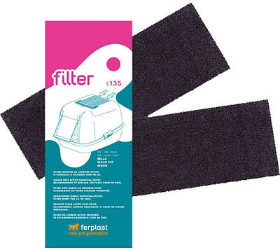 Ferplast L135 Replacement Active Carbon Filter Cat Bella Magix Prima Mika Maxi