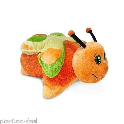 """Genuine Mookie 18"""" Pillow Pets Orange Butterfly Soft Cuddly Toy UK"""