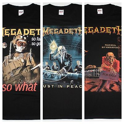 Megadeth So Far So Good So What Peace Sells Rust In Peace New Black T-Shirts