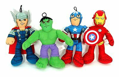 "Marvel Avengers Assemble Iron Man, Captain America, Thor or Hulk 9"" - 15"" plush"