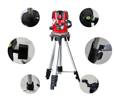 8 line Rotary Laser Line Beam Leveling Gradienter Levels Measuring Meter +Tripod