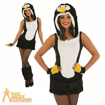 8cb7ea0a10116 Adult Sexy Penguin Costume Ladies Christmas Fancy Dress Animal Bird Outfit  8-22