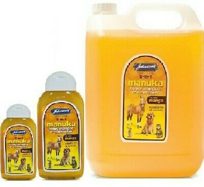 MANUKA HONEY SHAMPOO & CONDITIONER - 400ml / 5ltr - Johnsons Pet Dog Animal Cat