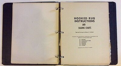 Vintage Hooked Rugs Scrapbook Instruction Manual Rebecca's Rugs