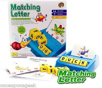 Family Fun Matching Letter Game Toy Preschooler First Matchin Letter Game