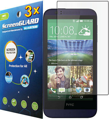 3x HD Clear LCD Screen Protector Guard Shield Cover Film for HTC Desire 510