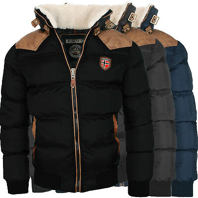 Geographical Norway warme Designer Herren Winter Stepp Jacke Winterjacke NEU