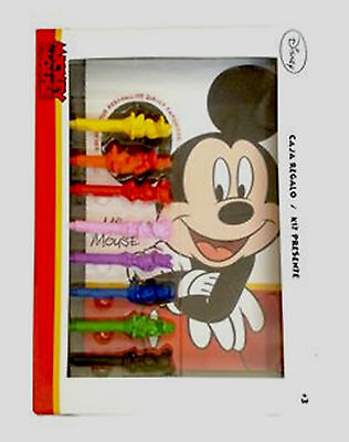 Disney MICKEY MOUSE Colouring Set - Colouring Book, 3D Character Crayons