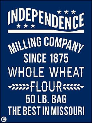 Primitive Stencil, INDEPENDENCE MILLING COMPANY Wheat Flour Vintage Advertising
