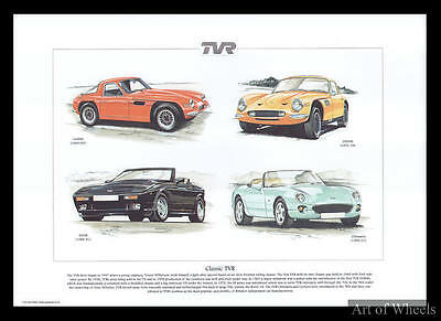 TVR 1960s Griffith 1970s 2500M 80s 400SE Chimaera Print