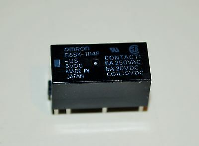Omron G6BK-1114P-US-DC5 General Purpose Relay SPST-NO 5VDC Double Wind Latching