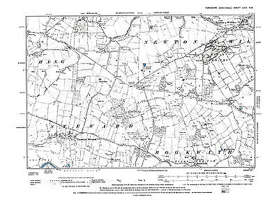 Old Map of  Newton le Willows, Thornton Steward, Yorkshire -1895 - Repro 69 SW