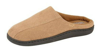 New Mens Gents Mule Slippers Hard Weaing Sole Brown Faux Suede Size UK 6 - 12