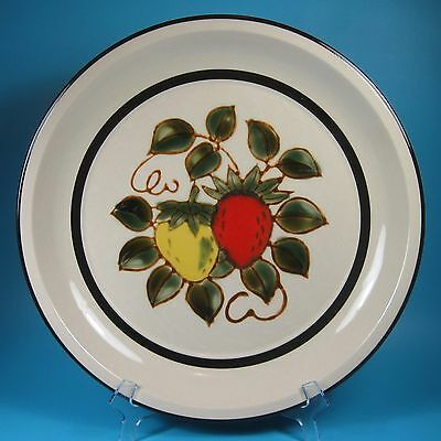 Sears STRAWBERRIES Round Serving Platter Chop Plate Strawberry Japan