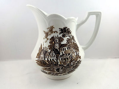 Creamer Pitcher  Stratford Stage Royal Staffordshire Ironstone Meakin Horses
