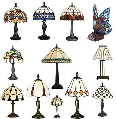 500+ SOLD! - Tiffany Style Handmade Table Desk Bedside Lamp - FAST FREE DELIVERY