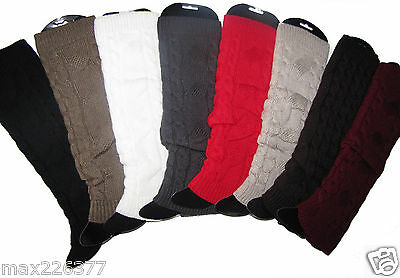 NEW  Womens Leg warmers winter Knitted Legging Socks Boot Cover 8 COLORS