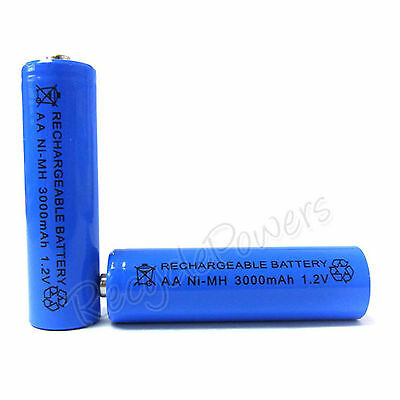 4 X AA Cell 3000mAh Ni-MH Rechargeable Battery Blue For CD player camera flash