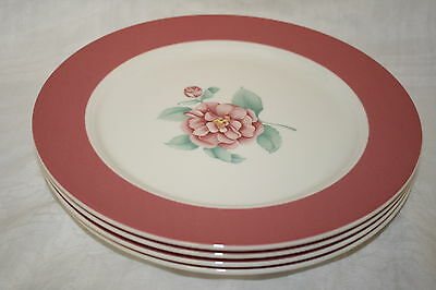 """FITZ AND FLOYD LUXEMBOURG """"CORPO"""" SET OF (4) DINNER PLATES 10.5"""""""