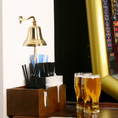 Brass Last Orders Bell Small 3.5inch / 90mm | Pub Bar Bell, Ships Bell