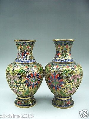 Chinese culture collections, A pair of the rare Chinese cloisonne vase