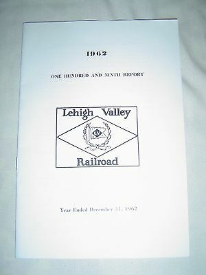 LEHIGH VALLEY RAILROAD COMPANY - 1962 Annual Report