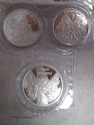 Christmas nativity  angel wish tree  3 oz  .999 fine silver round coins