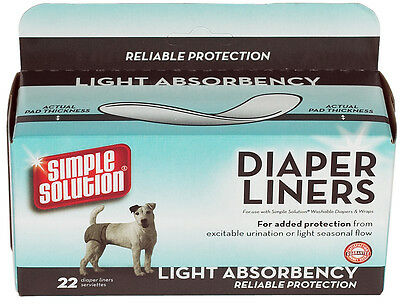 Simple Solution Dog Diaper Liners Dog Napppy Light Absorbency 22 Liners