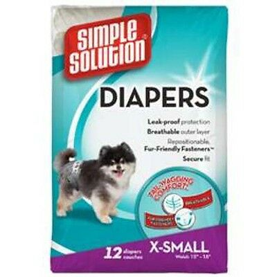Simple Solution Dog Diaper Disposable Dog Nappy Dog Pants X Small 12's