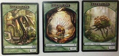 Magic The Gathering Mtg Token Mix Lot : Saproling X 100 Free Shipping