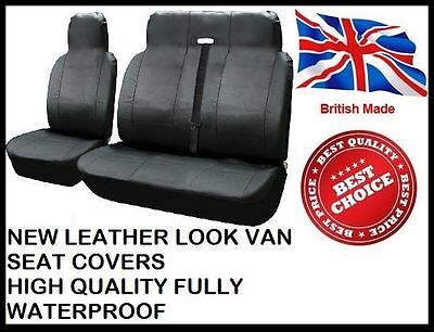 PEUGEOT BOXER 2.2 HDI LEATHER LOOK VAN SEAT COVERS - HEAVY DUTY + COMFORT