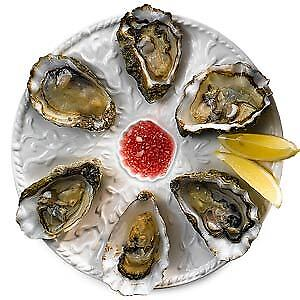Oyster Plate 6 Hole 25.5cm   Oyster Dish, Oyster Server