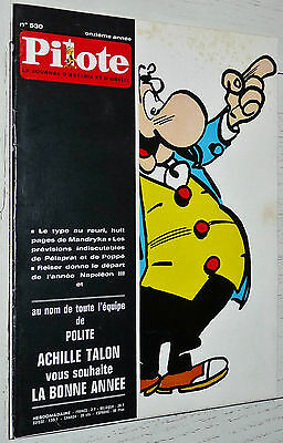 Pilote Eo N°530 01/01 1970 Pilotorama Aviation  Fred Lucky Luke Achille Talon