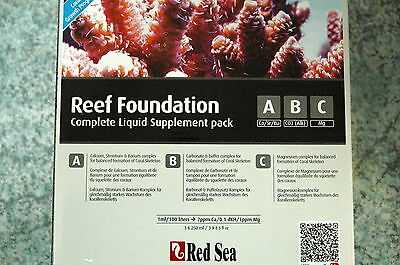 ROUGE MER Reef Foundation Complet Liquid A B C chaque 250 ml