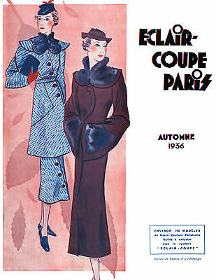NEW! 1936 Fall Eclair Coupe Paris Pattern Book Reprint - 100 Styles W/Patterns