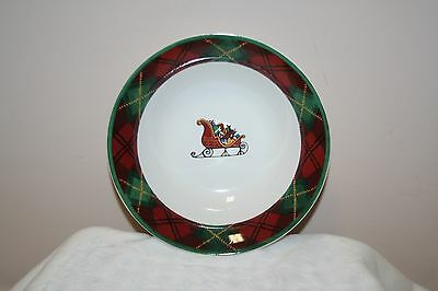 BLOCK FATHER CHRISTMAS CEREAL BOWL  EXCELLENT CONDITION