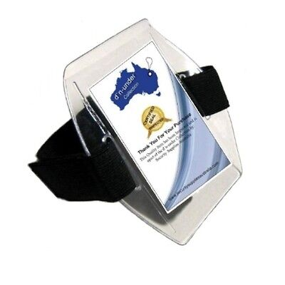 * Our ID Holders are new * Clear1 x Arm Band - New - Black - ( Latest  Release )