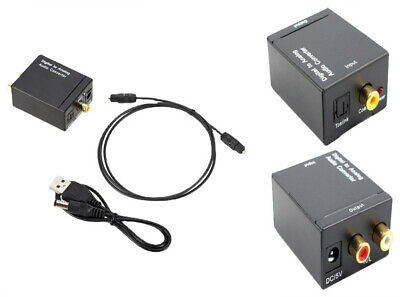 AU Digital Optical Coax Coaxial Toslink to Analog Audio Converter Adapter 3.5MM